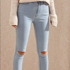 High Rise Stretchy Pacsun Ripped Jeans